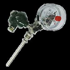 带热电偶/阻温度变送器的双金属温度计